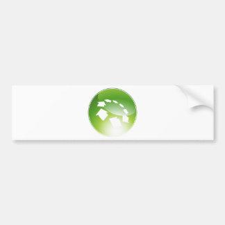 Process Arrows Green Icon Button Car Bumper Sticker