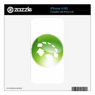 Process Arrows Green Icon Button iPhone 4 Skin