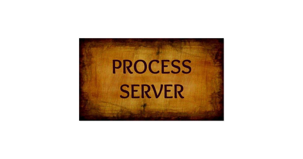 Process server antique business card zazzle for Process server business card samples