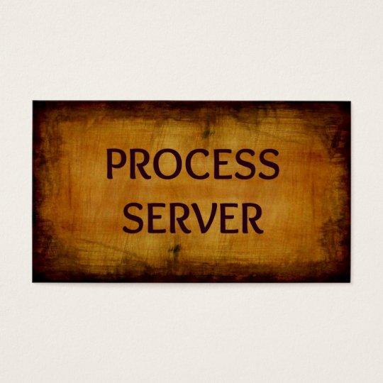 Process Server Antique Business Card
