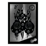 Process Steampunk Silhouette Poster
