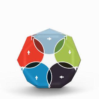 Process Venn Chart Icon Award