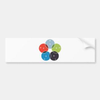 Process Venn Chart Icon Bumper Sticker