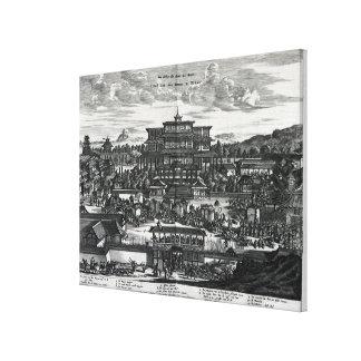 Procession from Macau, an illustration Canvas Print