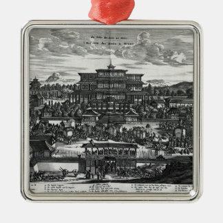 Procession from Macau, an illustration Metal Ornament