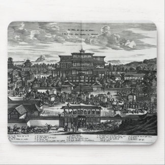 Procession from Macau, an illustration Mouse Pad