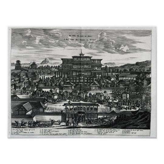 Procession from Macau, an illustration Poster