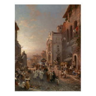 Procession in Naples by Franz Richard Unterberger Postcard