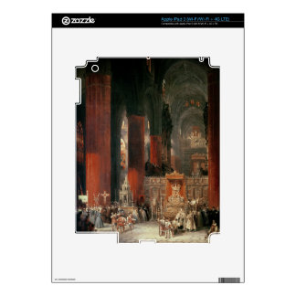 Procession in Seville Cathedral, 1833 (oil on canv iPad 3 Decals