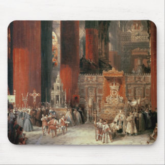 Procession in Seville Cathedral, 1833 (oil on canv Mouse Pad