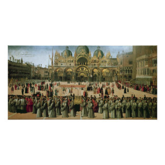 Procession in St. Mark's Square, 1496 Posters