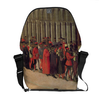 Procession in St. Mark's Square, detail of musicia Courier Bag