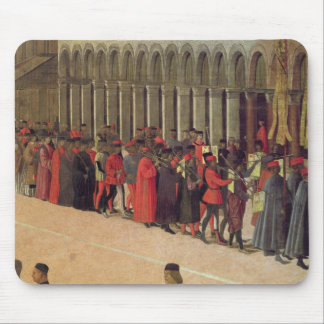 Procession in St. Mark's Square, detail of musicia Mouse Pad