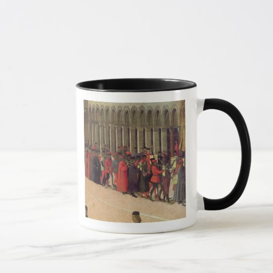 Procession in St. Mark's Square, detail of musicia Mug