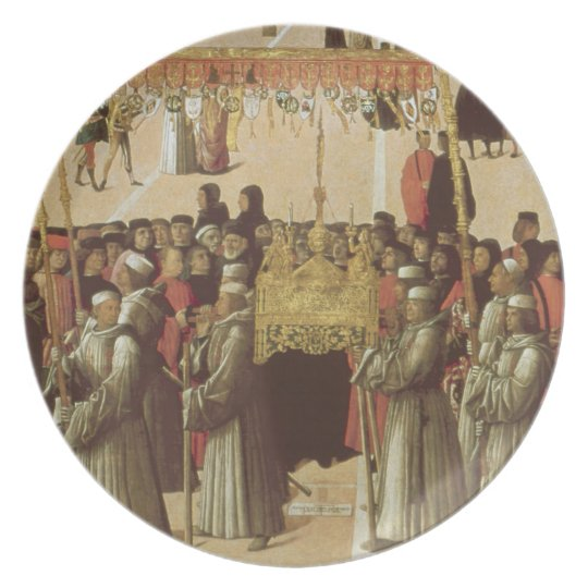 Procession in the St. Mark's Square, detail of the Dinner Plate