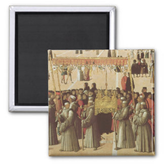 Procession in the St. Mark's Square, detail of the Magnet