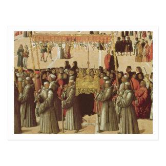 Procession in the St. Mark's Square, detail of the Postcard
