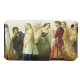 Procession of characters from Shakespeare (oil on Barely There iPod Cover