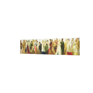 Procession of characters from Shakespeare (oil on Canvas Print