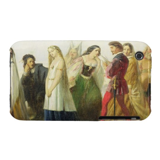 Procession of characters from Shakespeare (oil on iPhone 3 Case