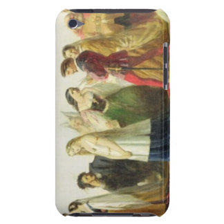 Procession of characters from Shakespeare (oil on iPod Touch Cover