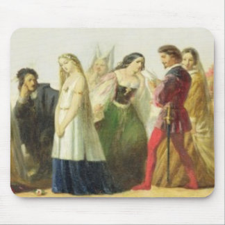 Procession of characters from Shakespeare (oil on Mouse Pad