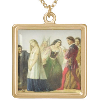 Procession of characters from Shakespeare (oil on Necklaces