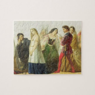 Procession of characters from Shakespeare (oil on Puzzle