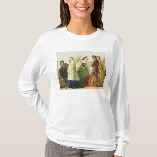 Procession of characters from Shakespeare (oil on T-Shirt