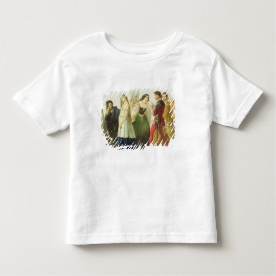 Procession of characters from Shakespeare (oil on Toddler T-shirt