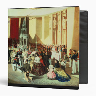 Procession of Corpus Christi in Seville 3 Ring Binder