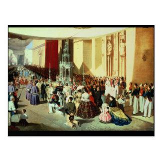 Procession of Corpus Christi in Seville Postcard