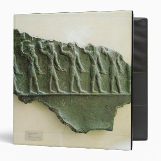 Procession of Elamite warriors, Susa, Iran, Elamit 3 Ring Binder