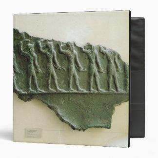 Procession of Elamite warriors, Susa, Iran, Elamit 3 Ring Binder