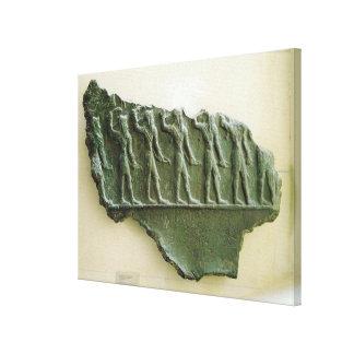 Procession of Elamite warriors, Susa, Iran, Elamit Canvas Print