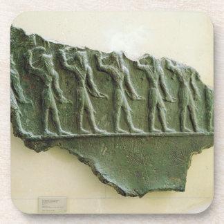 Procession of Elamite warriors, Susa, Iran, Elamit Coaster