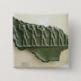 Procession of Elamite warriors, Susa, Iran, Elamit Pinback Button