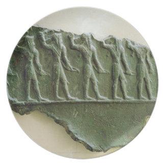 Procession of Elamite warriors, Susa, Iran, Elamit Plate