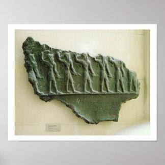 Procession of Elamite warriors, Susa, Iran, Elamit Poster