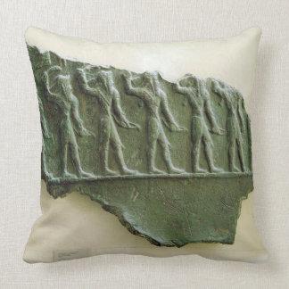 Procession of Elamite warriors, Susa, Iran, Elamit Throw Pillow
