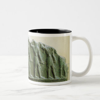 Procession of Elamite warriors, Susa, Iran, Elamit Two-Tone Coffee Mug