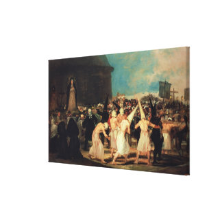 Procession of Flagellants, 1815-19 Canvas Print