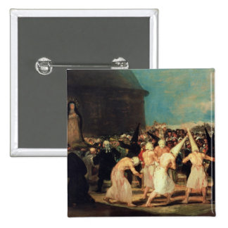 Procession of Flagellants, 1815-19 Pinback Button