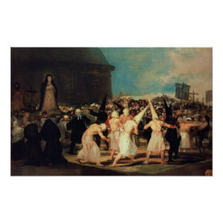 Procession of Flagellants 1815-19 Poster