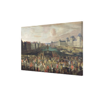 Procession of Louis XIV  Across the Pont-Neuf Canvas Print
