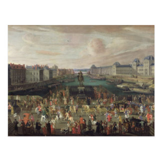 Procession of Louis XIV  Across the Pont-Neuf Postcard