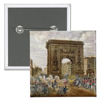 Procession of Pope Pius VII  in Paris Button