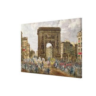 Procession of Pope Pius VII  in Paris Canvas Print