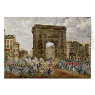 Procession of Pope Pius VII  in Paris Card