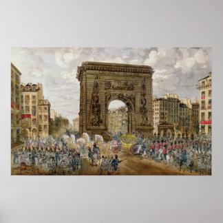 Procession of Pope Pius VII  in Paris Poster